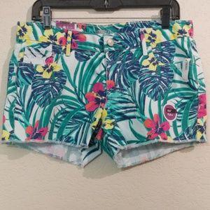 NWT tropical floral print 5 pocket old navy shorts
